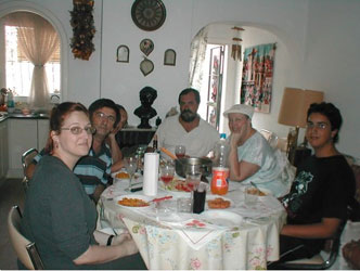 Carma and family outside of Marbella