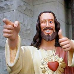 winking Jesus