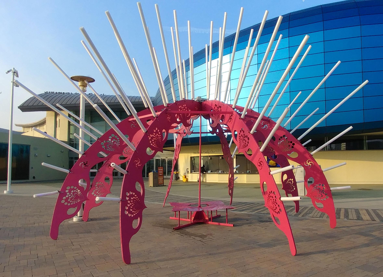 Sea Urchin sculpture at The Aquarium of the Pacific