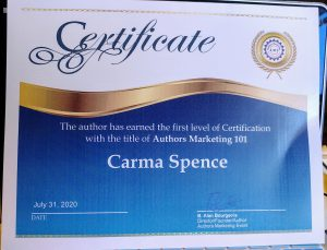 Author Marketing Certificate
